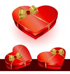 vector heart gift box vector image