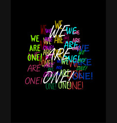 We are one vector