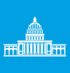 white house icon white vector image