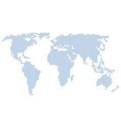 World map stars vector