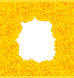 Yellow marigold border vector