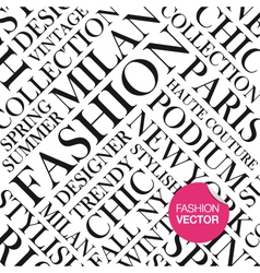 Fashion background words cloud vector image