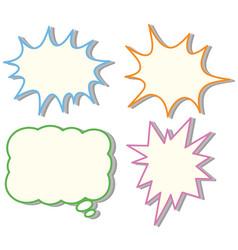 four colorful speech bubble templates vector image