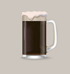 Glass of dark beer vector image
