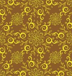 Line flower pattern yellow vector