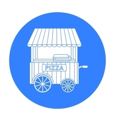 Pizza cart icon in black style isolated on white vector image
