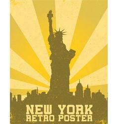 retro new york background vector image vector image