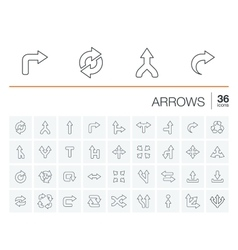 Arrows and direction icons vector image vector image