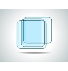 Glass squares vector image vector image