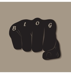 Blog Fist vector image