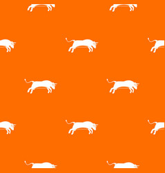 bull pattern seamless vector image vector image