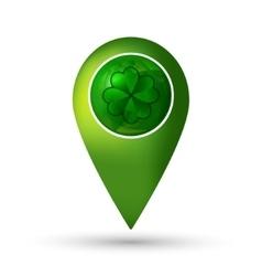 Clover location icon vector image vector image