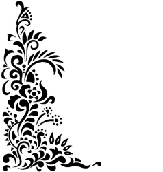 Floral background tattoo vector image vector image