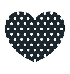 hand drawing dark blue heart shape decorative with vector image vector image