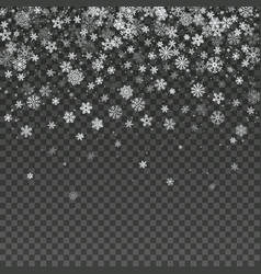 falling snowflake isolated winter vector image