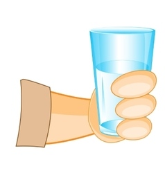 Glass in hand of the person vector image vector image