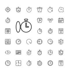 33 deadline icons vector
