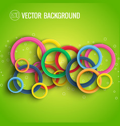 abstract dynamic circles concept vector image