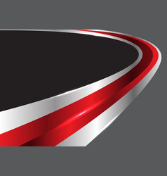 Abstract red glossy silver line curve gray vector