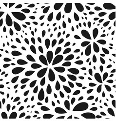 Abstract seamless drop pattern monochrome black vector