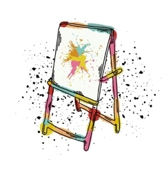 an easel for drawing It vector image