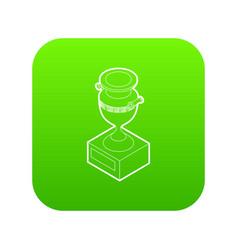 ancient vase icon green vector image