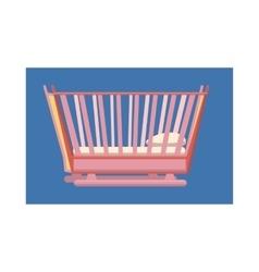Baby bed icon cartoon style vector image