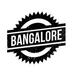 bangalore rubber stamp vector image