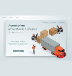 banner automation warehous processes vector image