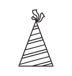 Birthday hat icon vector