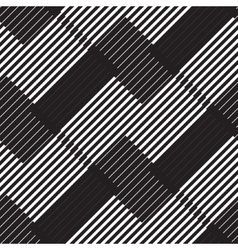 Black and white stripe geometric vintage design vector