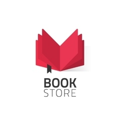 Bookstore logo isolated on vector image