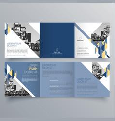 brochure design 652 vector image