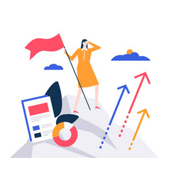 Business leadership - colorful flat design style vector