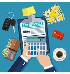 Car insurance form concept vector