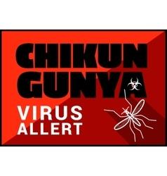 Chikungunya virus allert outline vector