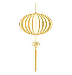 Chinese hanging lantern vector
