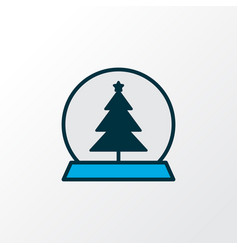 Christmas toy icon colored line symbol premium vector