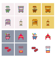 Circus equipment icons vector