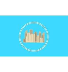 City icon flat vector
