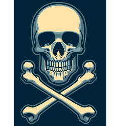 Classic skull with crossed bones vector
