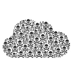 cloud figure of death skull icons vector image