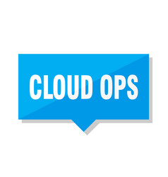 Cloud ops price tag vector