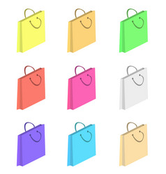 colorful shopping paper bags vector image