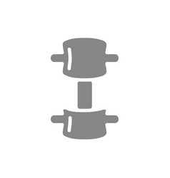 compression fracture spine grey icon vector image