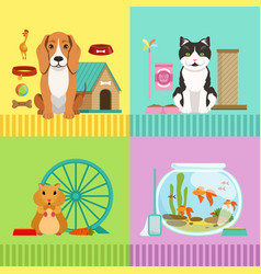 conceptual different pets dog vector image