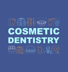 Cosmetic dentistry word concepts banner vector