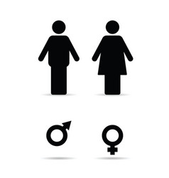 Couple with woman and man sign vector