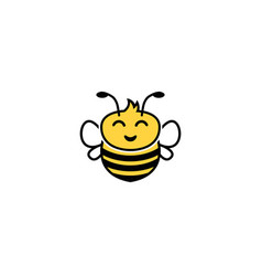 creative bumble bee logo vector image