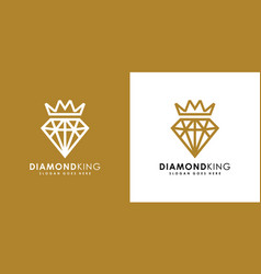 diamond king logo design vector image